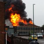 factory fire in Nottingham